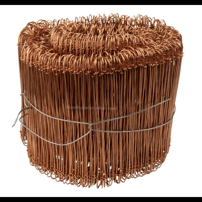 Tie-wire - Twisting wires gegloeid copper plated 1,0x100mm