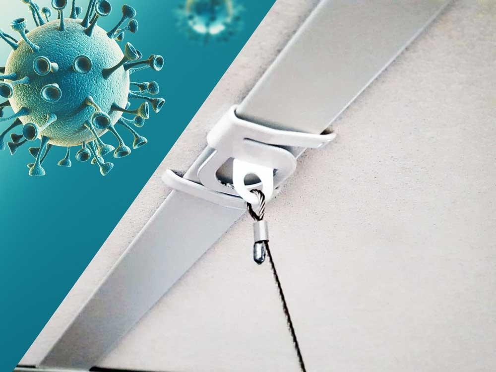 Plafondclips voor kuchschermen