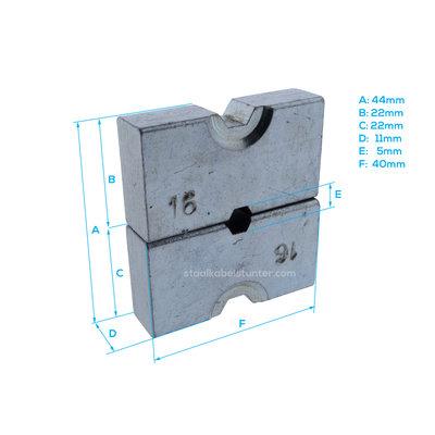 Stanford Extra gehard inzetstuk voor hydraulische perstang