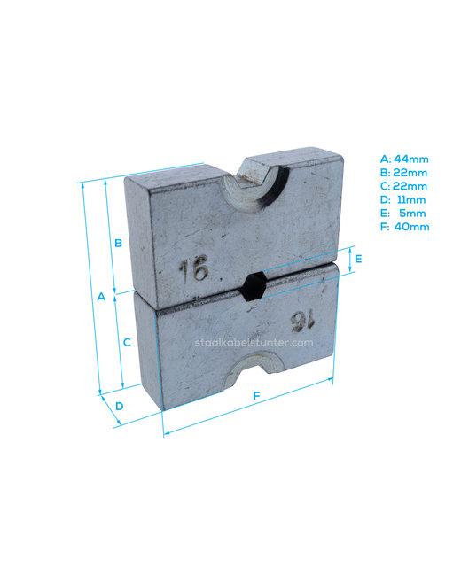 Extra gehard inzetstuk voor hydraulische perstang