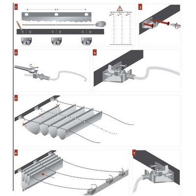 Stahlseilführung - 1 lijn