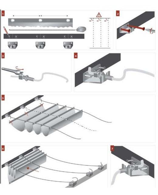Staalkabel geleidings systeem harmonicadoek - 1 lijn