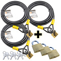 Lynx 3 pieces Wire Rope with padlock 10 meter Action