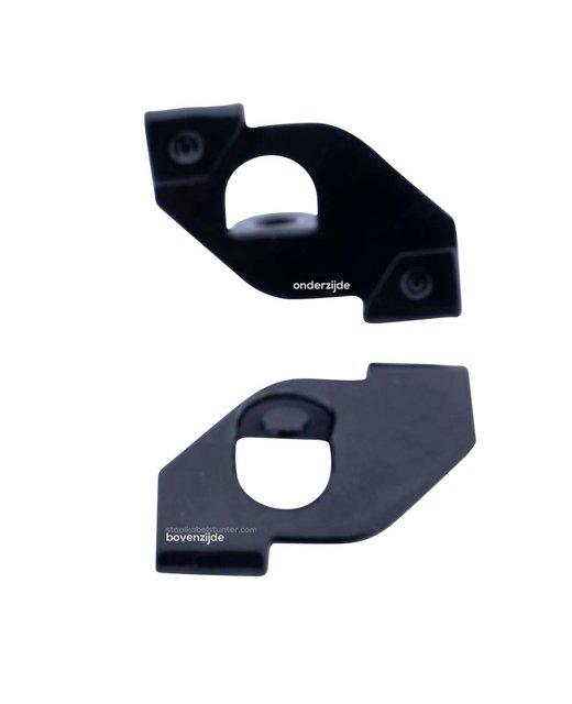 Clip voor systeemplafonds zwart