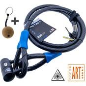 Pro-tect Kabelslot Art & VBV gekeurd 2.5 meter lang - met beugel Cobalt - Copy