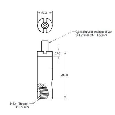 Technx Verstellbares Federungssystem M6 mutter