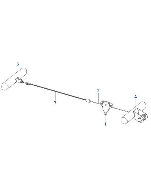 Kabelbaan Zipline 25 meter Tokkelbaan