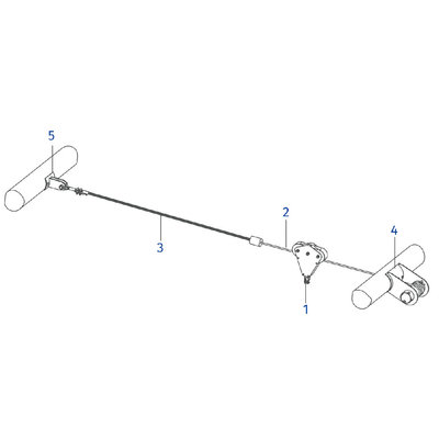Technx Kabelbaan Zipline 25 meter Tokkelbaan