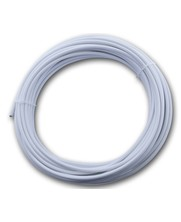 stainless Wasline white pvc coated 3/5 mm x 20 meter