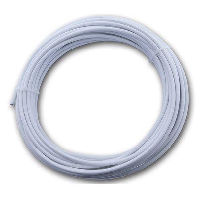 Technx Rvs Waslijn wit pvc omspoten 3/5 mm x 20 meter