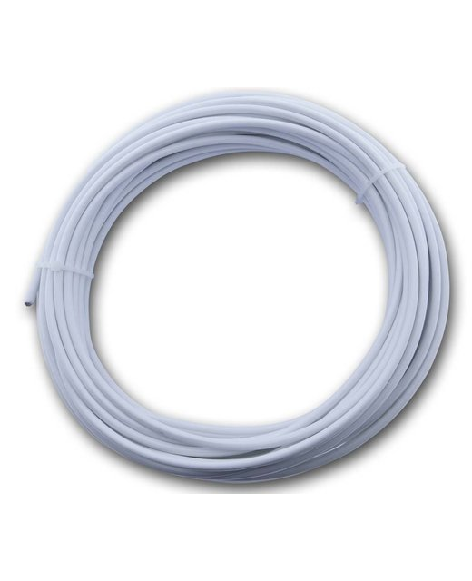 Rvs Waslijn wit pvc omspoten 3/5 mm x 20 meter