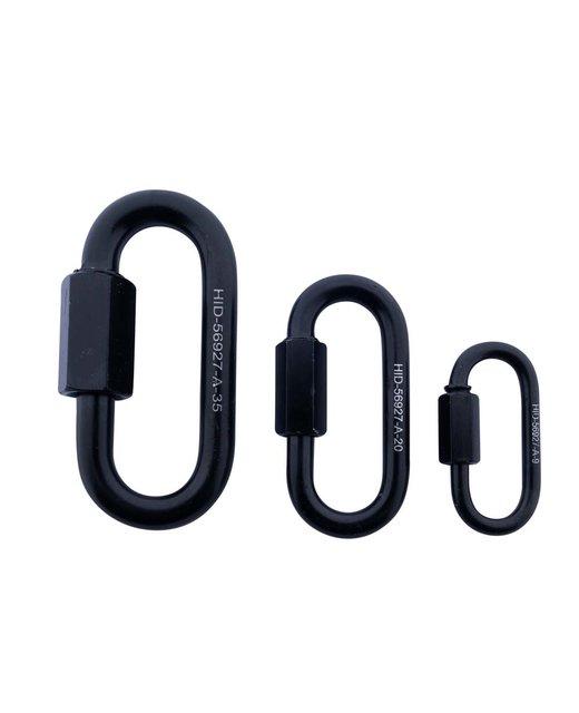 Noodschakel  zwart kettingschakel verbinden