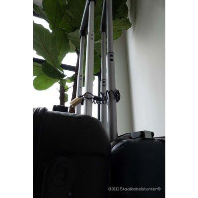 Lockenkabel mit Öse Anschlagseil Forstseil mit Schlaufe - 2.5mm -mit Vorhängeschloss