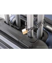 Krulkabel met lussen voorzien van geisoleerde persklemmen - 2.5mm  met hangslot