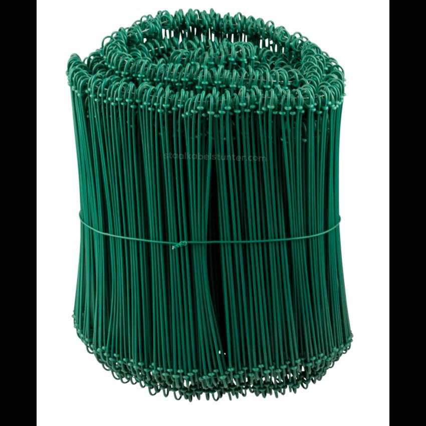 Tie-wire - Twisting wires green PVC 1,4x200mm