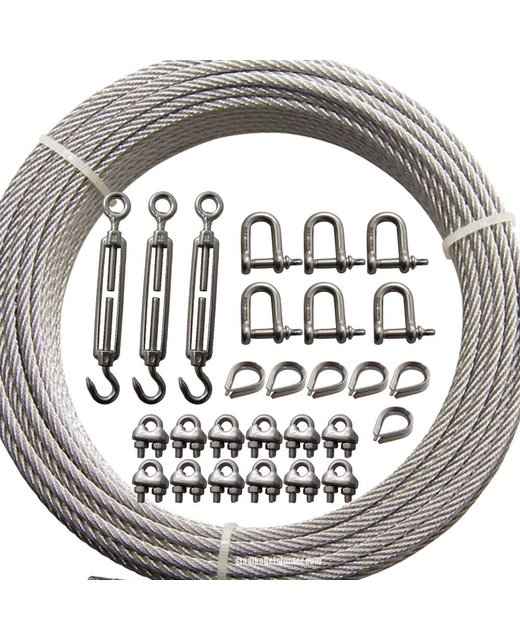 Universal guy wire kit 3mm Stainless