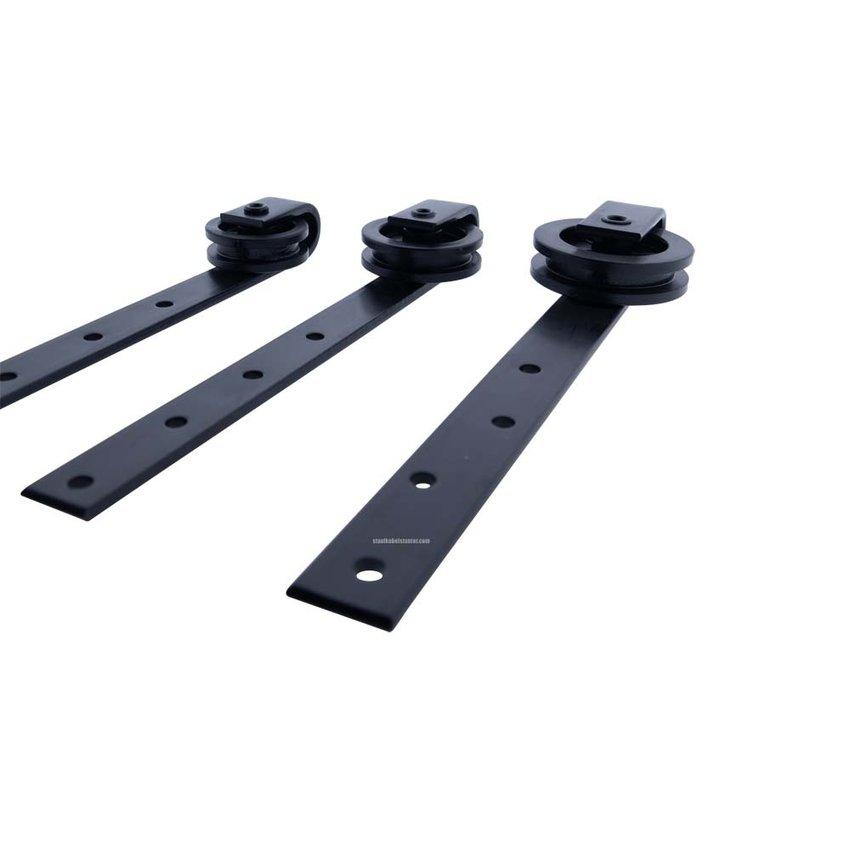 Schuifdeur Hangrol Zwart 75mm