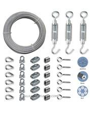 Kabelgeländer-Kit / Gartendraht / Spalier-Kabelsatz / Drahtzaunrolle Verzinkt