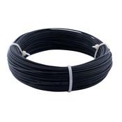 Zwarte Staalkabel op rol - 1.5 mm 50 meter