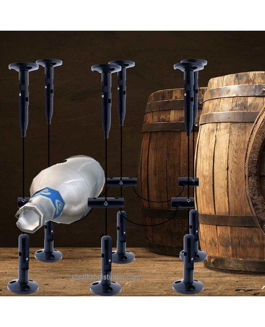 Staalkabel Wijn Opberg Systeem Zwart