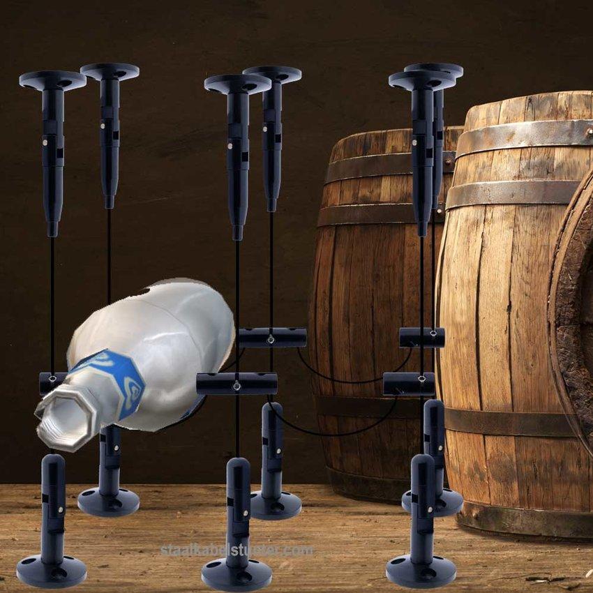 Steel wire rope Wine Storage System Black