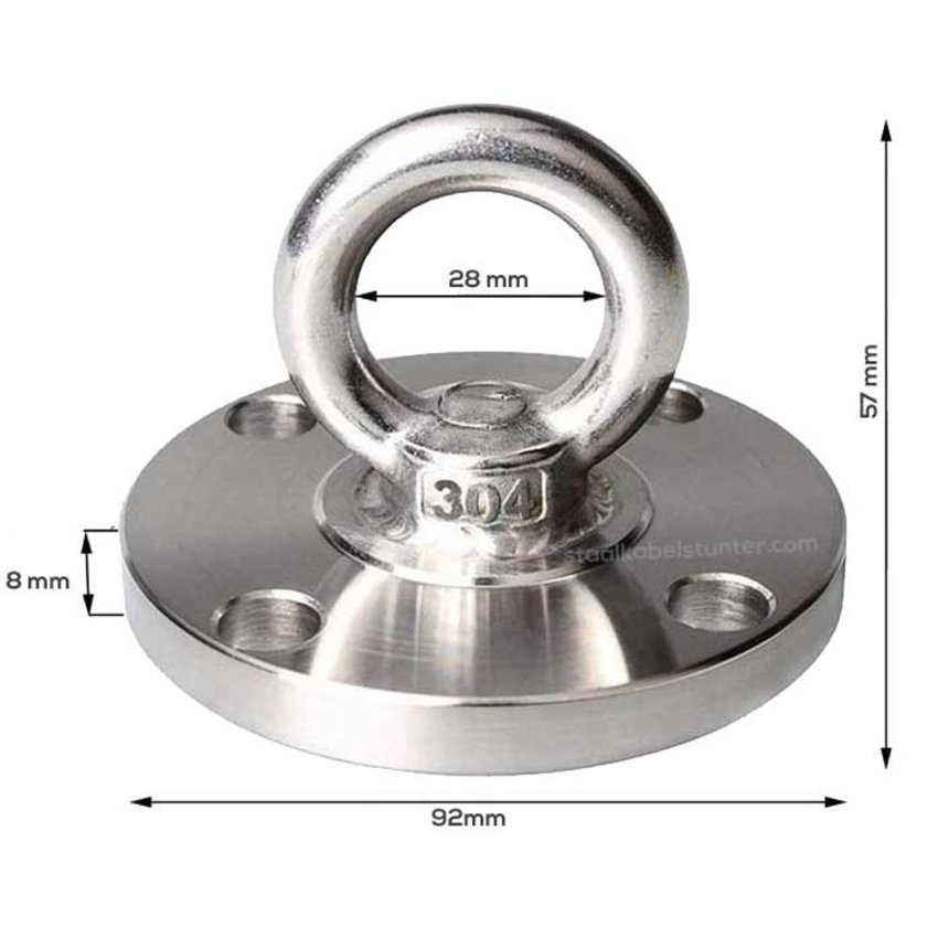 Rvs Oogplaten 92mm met draaibare ring  - Heavy Duty