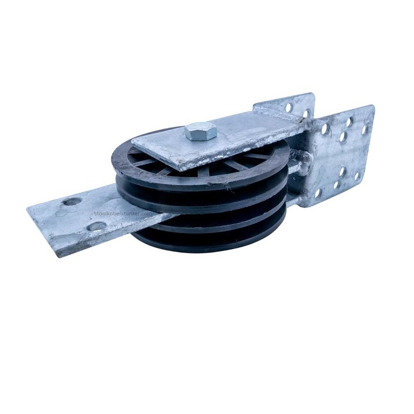 Double pulley set with beam mounting 100mm