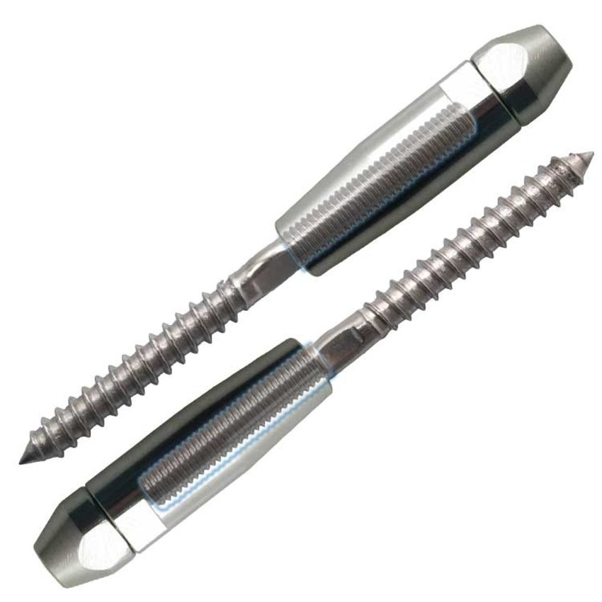 Terminals 4mm for fencing wood and concrete