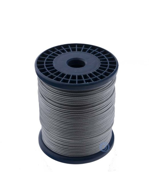 Staalkabel haspel Pvc 100 meter 1-2mm
