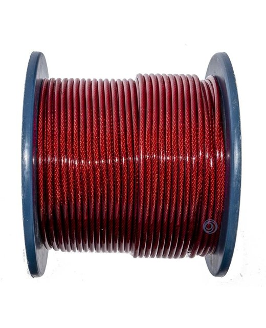Staalkabels 3/5 mm pvc 100 meter rood Smoke