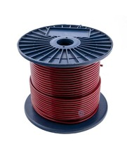 Wire Ropes 3/5 mm pvc 100 meter Red  Transparant