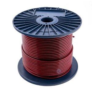 Drahtseile 3/5 mm PVC-ummantelt 100 meter Rot Transparant