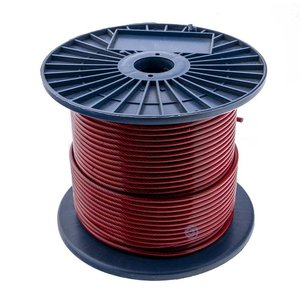 Staalkabel 3/5 mm PVC 100 meter Rood Transparant