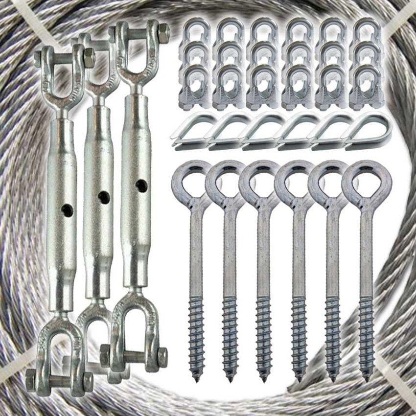 Pakket voor het stabiliseren van een ooievaarsnest met staalkabel 6mm