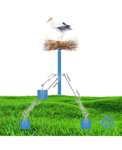Bundle especially made for building a stork's nest with wire rope 6mm