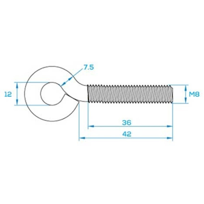 Trailer Tailgate Cable - 450mm