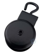 Markieskatrollen met open oog polyamide schijf 32mm zwart