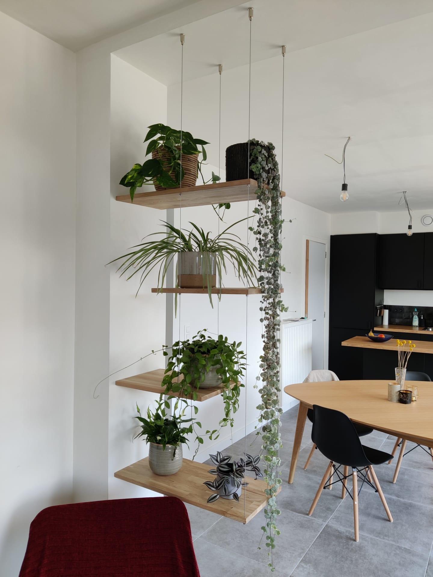Zwevende plantenkast