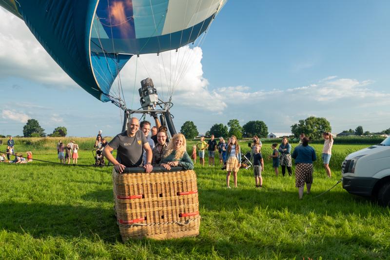 Staalkabelstunter maakt ballonvaart