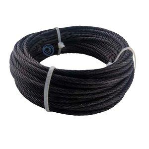 Blackline Drahtseil 3 mm Schwarz 10 meter