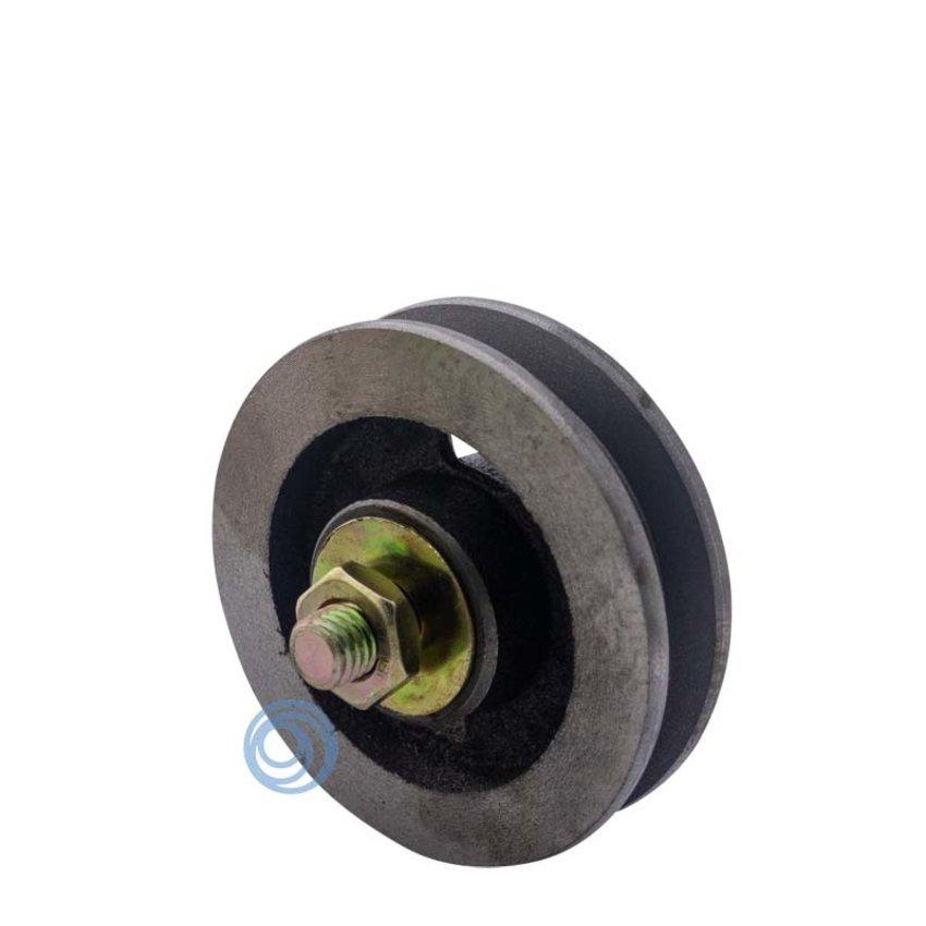 Gietijzeren wiel met naaldlager 75mm