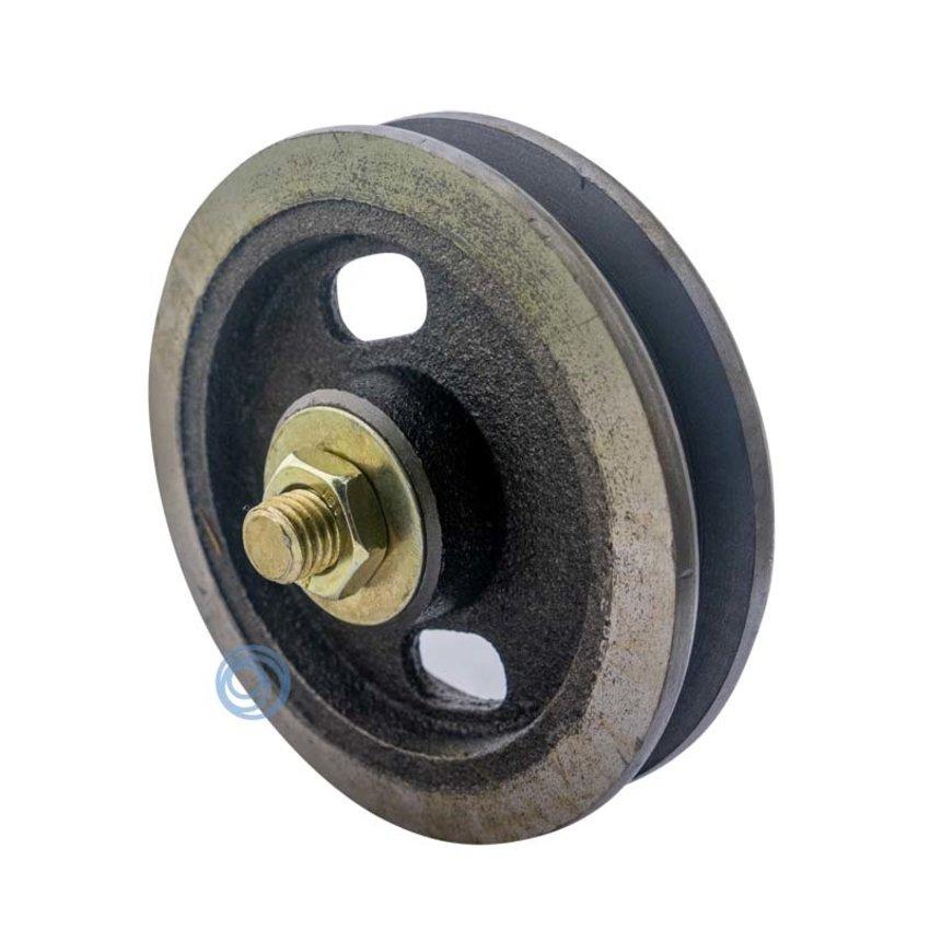 Cast iron wheel with needle bearing 105mm