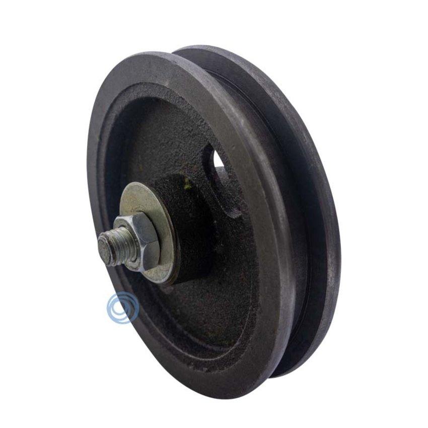 Cast iron wheel with needle bearing 120mm