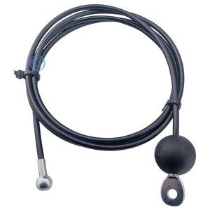 Fitness Staalkabel 4/6mm met eindkogel en trek oog met bal