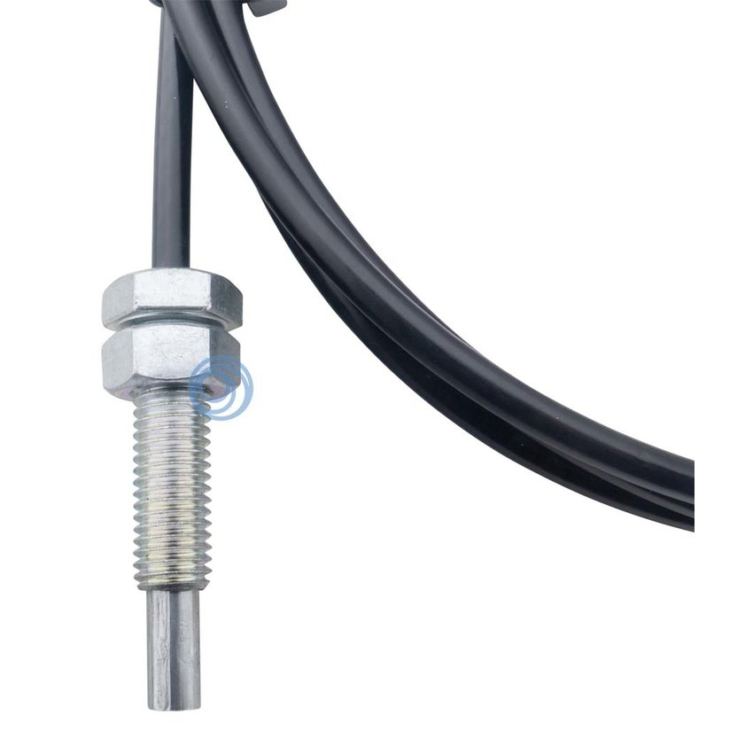 Fitness steel cable 6mm with pressed end stop and M12 thread