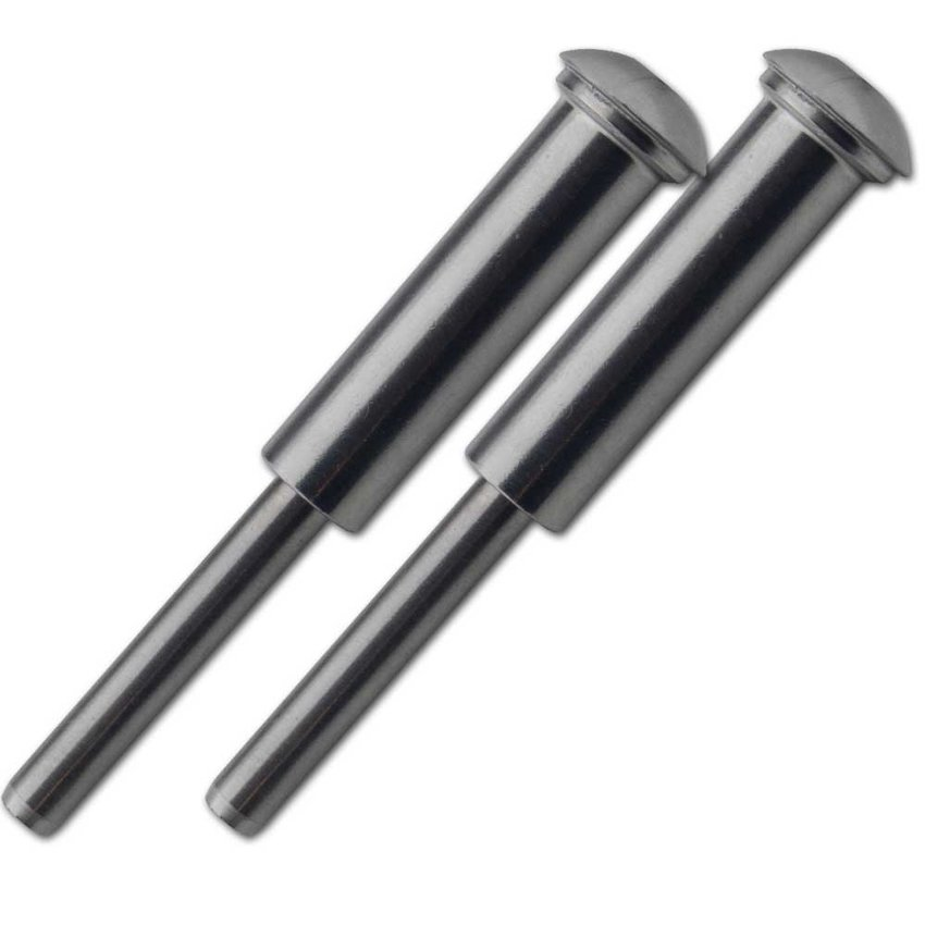 Stainless steel press stud terminals 4mm set of 2