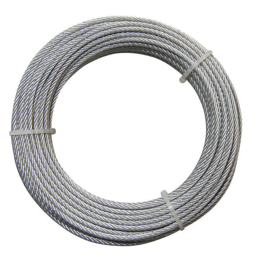 Extra flexible wire rope reel 25 meters 3mm