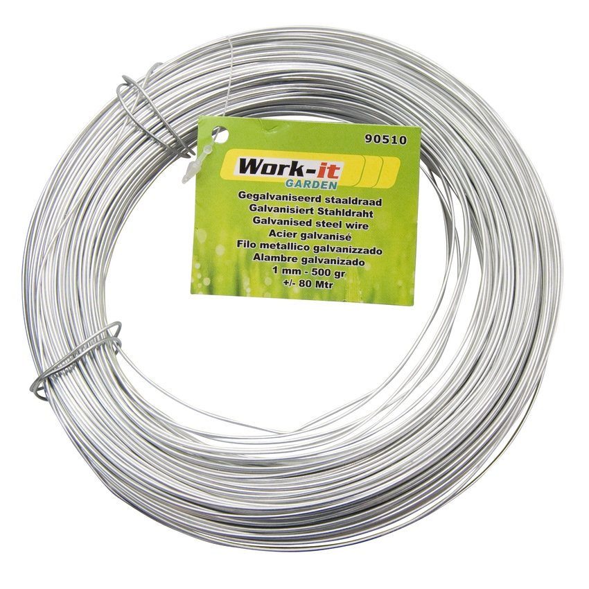 Iron wire  Galvanised 1 mm - 500 gram