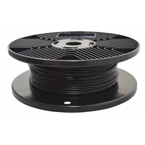 Wire Rope 1.7/2.5mm black 100 m PVC