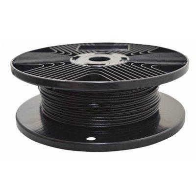 Staalkabels zwart geplastificeerd 1.7/2.5mm 100 meter